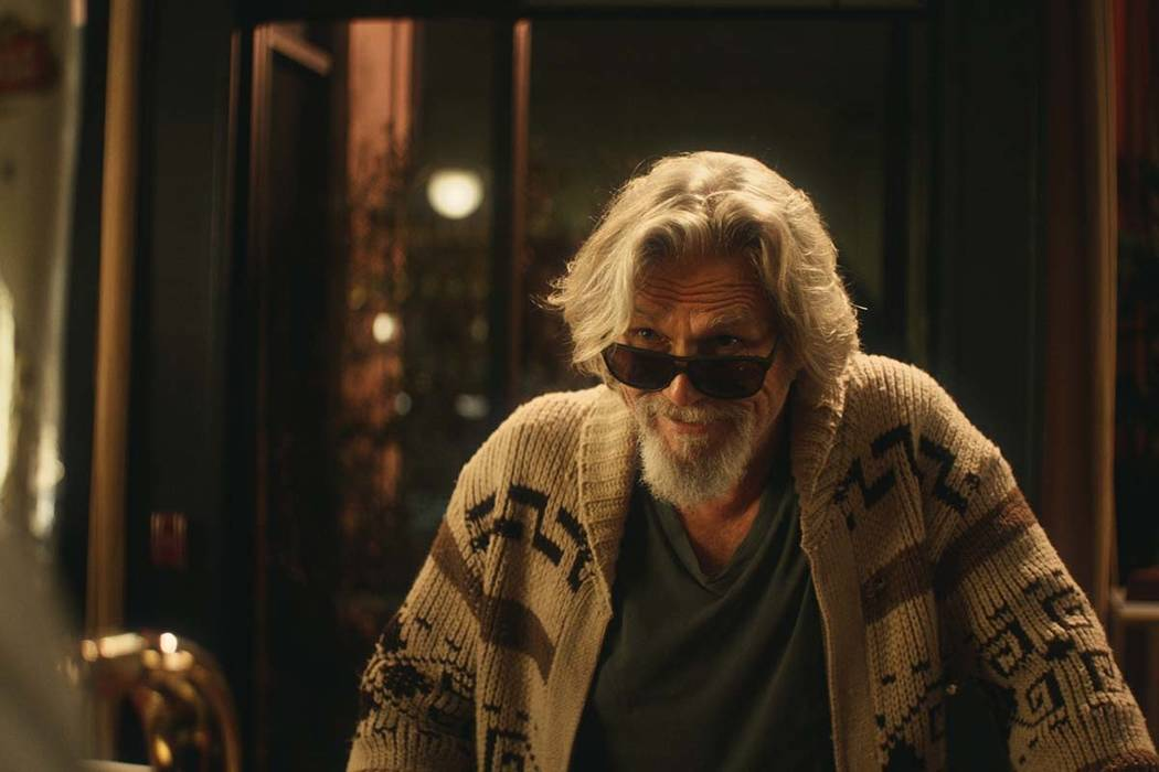 """This undated image provided by Stella Artois shows a scene from the company's Super Bowl spot with Jeff Bridges, who revived his """"The Dude"""" character from """"The Big Lebowski"""" in a pitch for ..."""