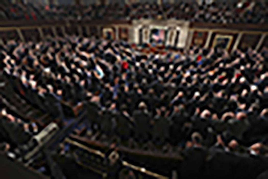 In this Jan. 30, 2018, file photo President Donald Trump delivers his State of the Union address to a joint session of Congress on Capitol Hill in Washington. (AP Photo/Pablo Martinez Monsivais, File)