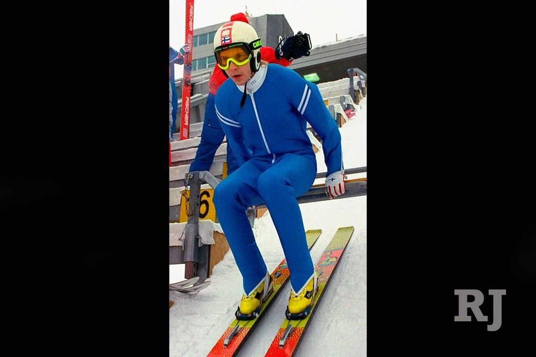 Finnish ski jump icon Matti Nykanen died Sunday at the age of 55. (Katsumi Kasahara/AP file)
