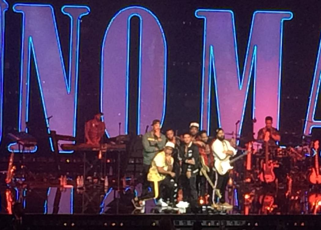 Bruno Mars and his band put up the house lights to allow all 5,185 people to snap a photo, Saturday, Dec. 31, 2016, at The Park Theater on the Las Vegas Strip. John Katsilometes Las Vegas Review-J ...