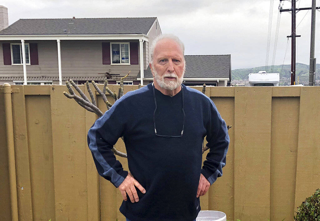 Dave Elfver, 75, talks Monday, Feb. 4, 2019 about the plane crash in his Yorba Linda, Calif., neighborhood Sunday, Feb. 3. He said he was getting ready to go to his friend's house to watch the Sup ...