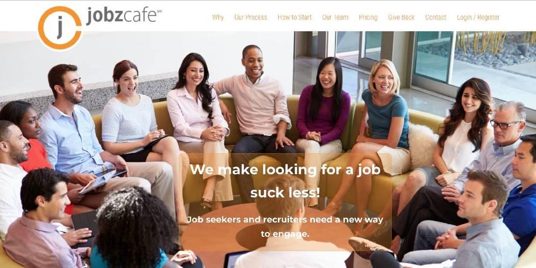 A screenshot of the JobzCafe website.