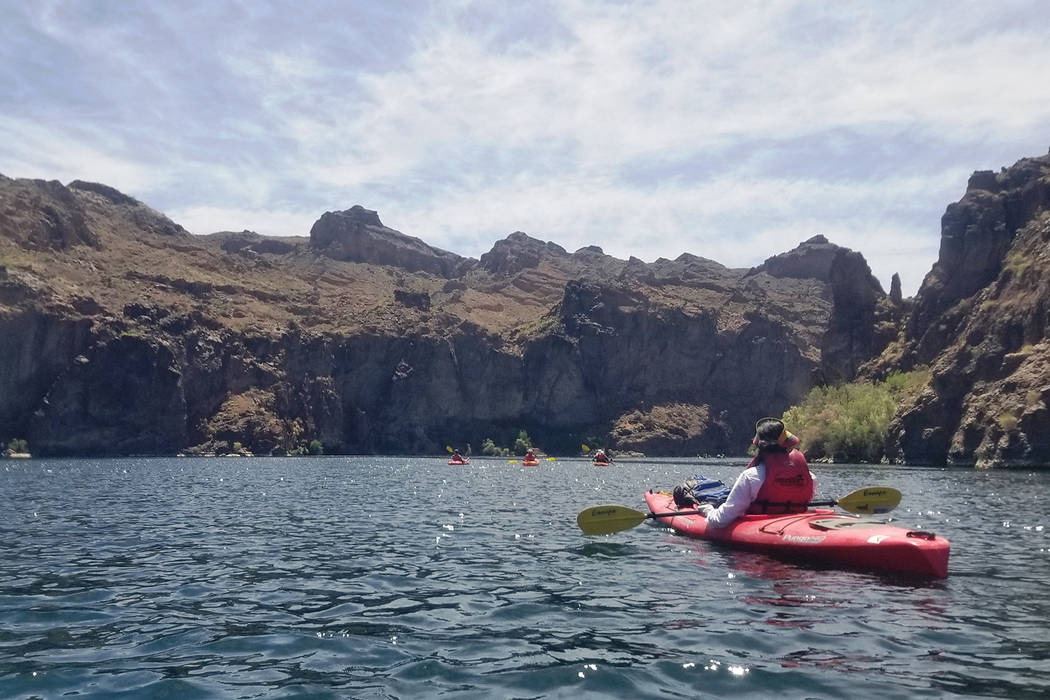 Natalie Burt kayaks along the Black Canyon National Water Trail. (Claudine Branchaud West)