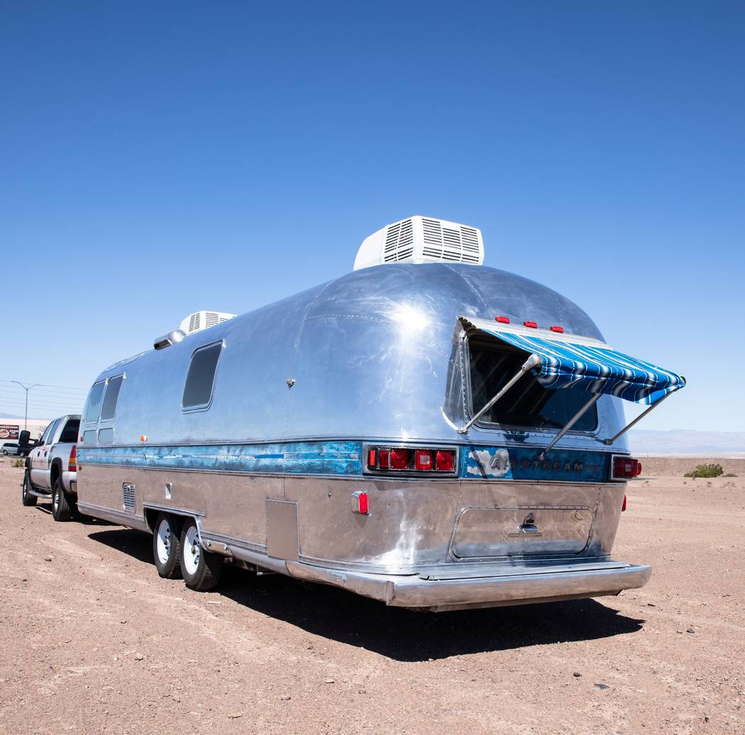 """Findlay Customs found this """"totaled"""" 1976 Airstream trailer on Craigslist and turned it int ..."""