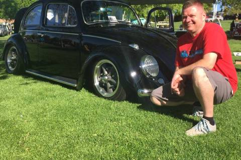 Findlay Volkswagen Henderson parts manager Frank Mattos is also a Volkswagen enthusiast, as evi ...