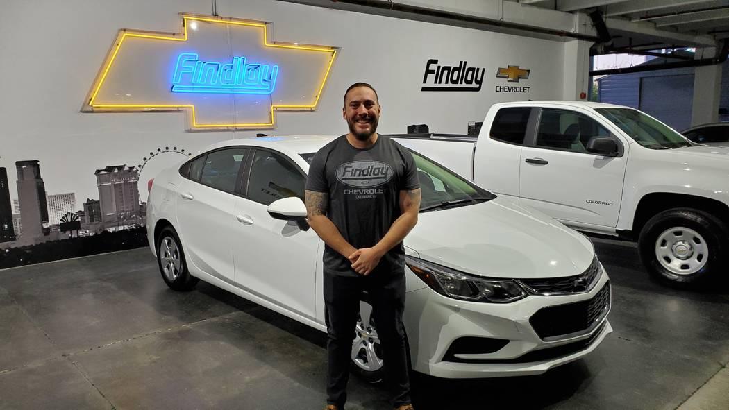Walter Long Elementary School teacher Greg Winiewicz won a 2018 Chevrolet Cruze from Findlay Ch ...