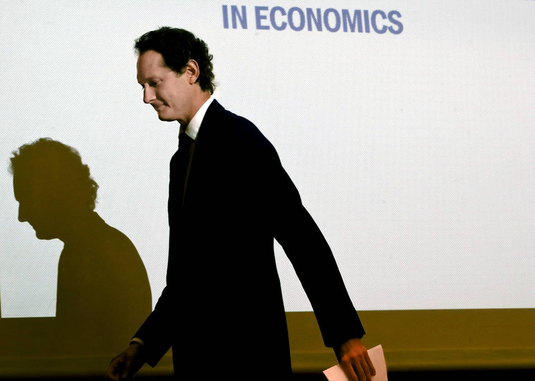 FCA Chairman John Elkann arrives for a meeting at the Bocconi University in Milan, Italy, Monda ...