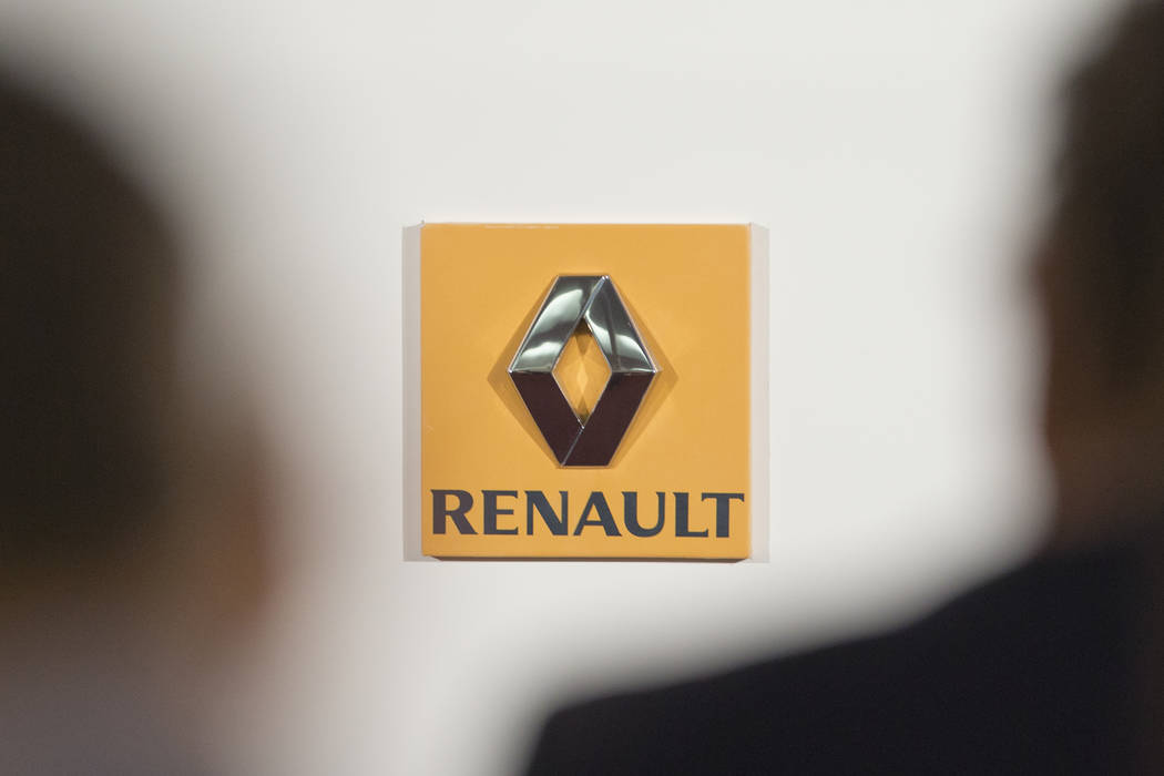 FILE - This Thursday Feb. 12, 2015 file picture shows the logo of French car maker Renault seen ...