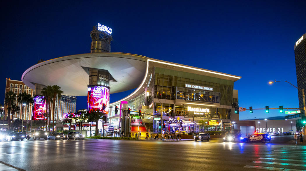 The Fashion Show mall on the Strip was evacuated because of a reported gunshot according to Las ...