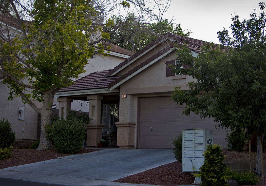 The former home of Kari Monson that she was evicted from last year, in Las Vegas, Wednesday, Ju ...