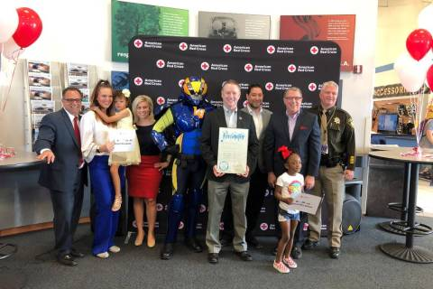 "American Red Cross of Southern Nevada's ""Missing Types"" campaign launched at Findlay Honda ..."