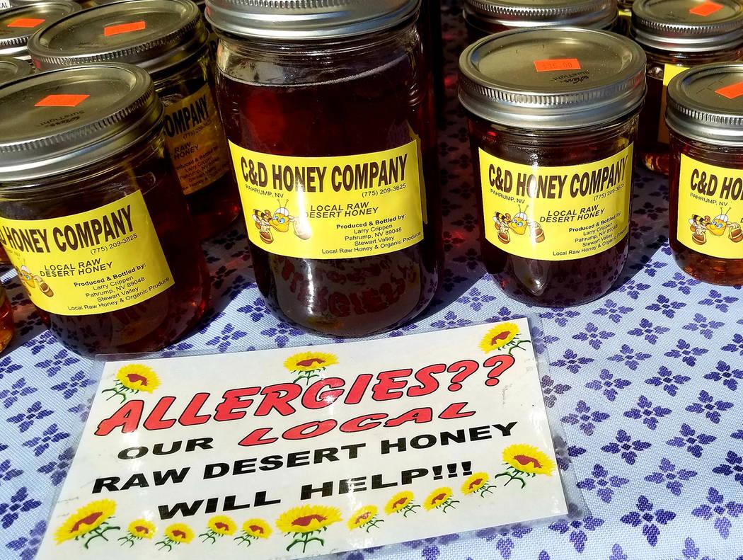 Honey is sold at the Water Street market. (Natalie Burt)