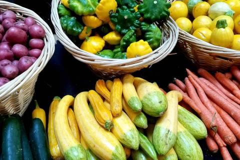 Veggies are seen at Galleria at Sunset market. (Natalie Burt)