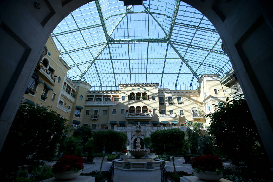 The atrium at The Mansion at MGM on the Strip in Las Vegas Tuesday, Dec. 11, 2018. K.M. Cannon ...