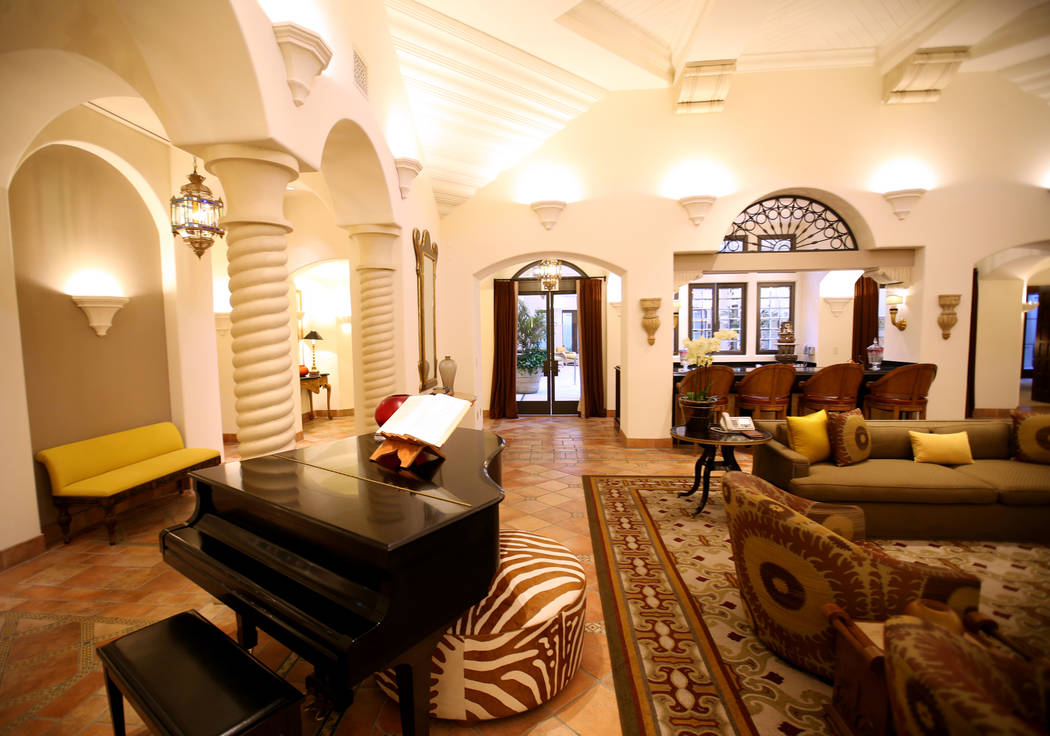 The living room at the 12,000-square-foot Villa 8 at The Mansion at MGM on the Strip in Las Veg ...