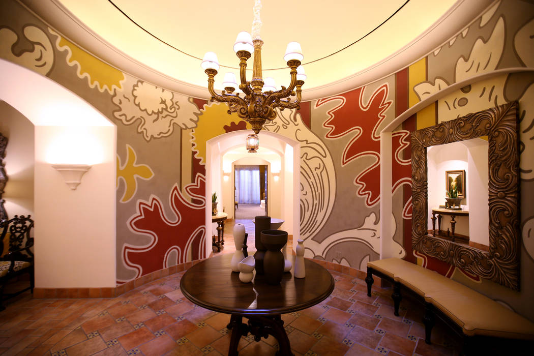 The entryway in the 12,000-square-foot Villa 8 at The Mansion at MGM on the Strip in Las Vegas ...