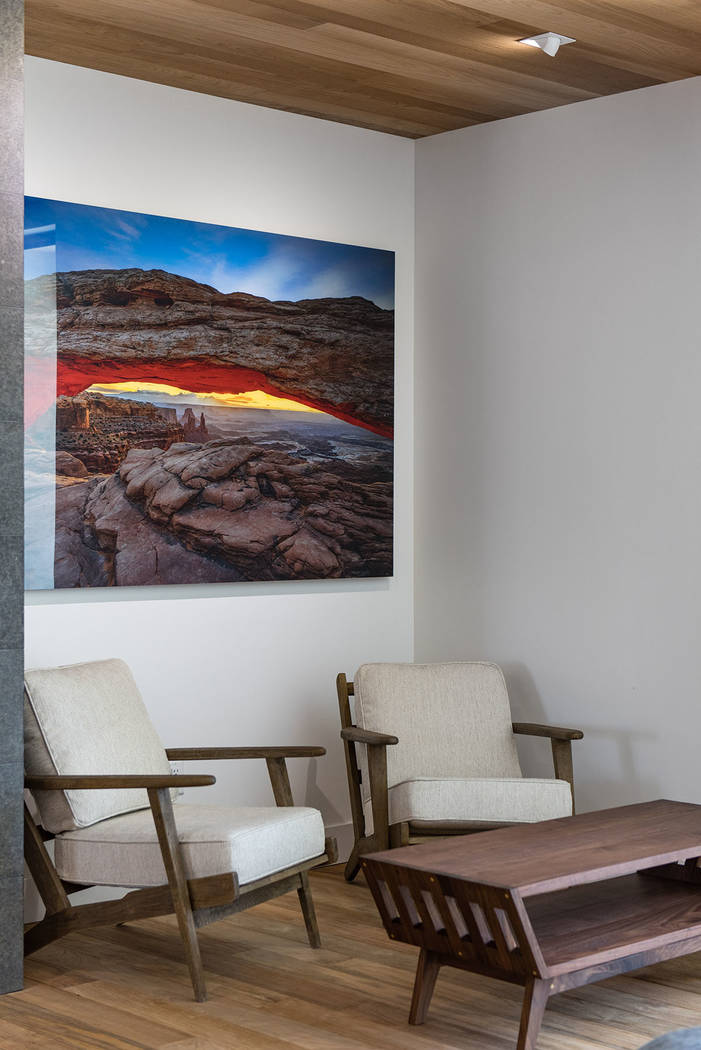 The artwork in the phones are Peter Lik photos. (Jewel Homes)