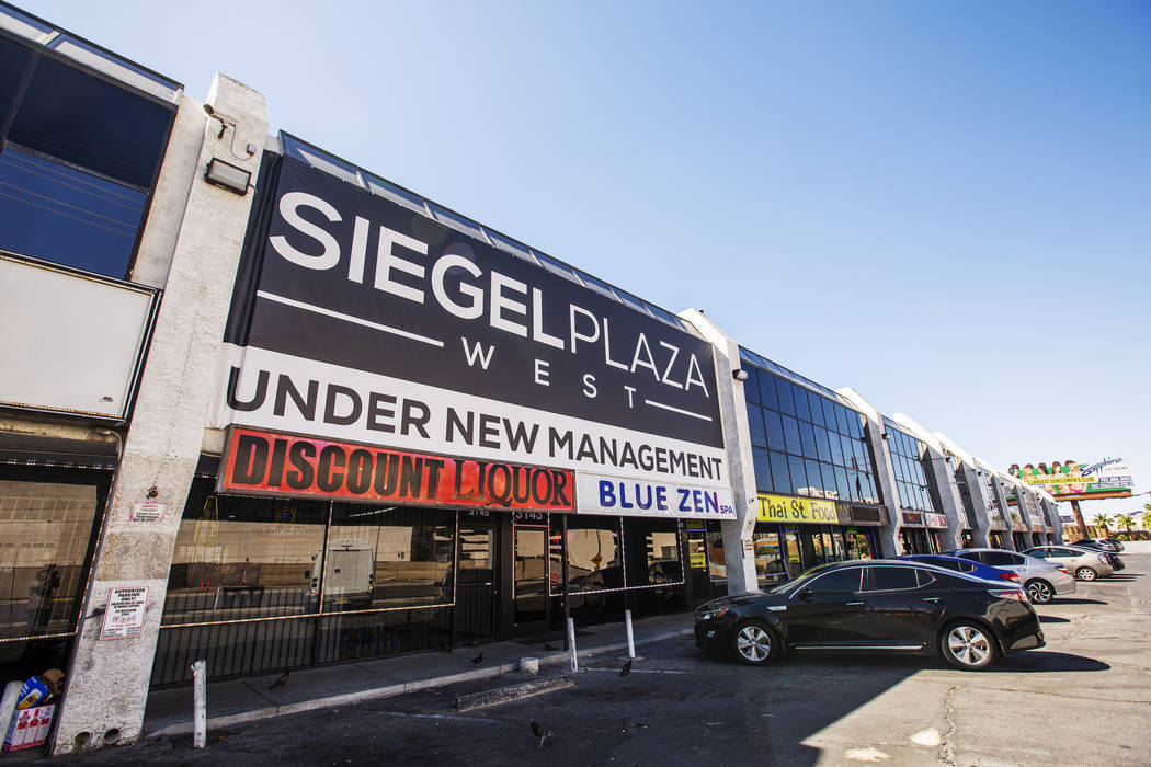 The front of the Siegel Plaza West on July 11, 2019 in Las Vegas. Siegel Plaza West recently ha ...