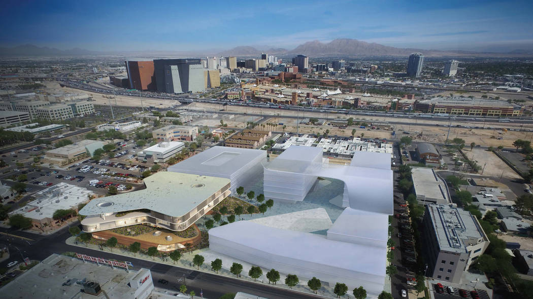 Rendering of the proposed new UNLV Medical School building. (UNLV)