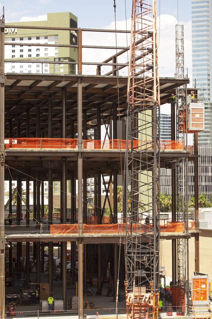 Construction of the the expansion of Showcase Mall continues on July 12, 2019 on the Las Vegas. ...