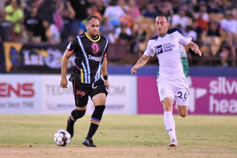 Jesus Gonzalez, left, makes his USL Championship debut against the El Paso Locomotive. Photo co ...