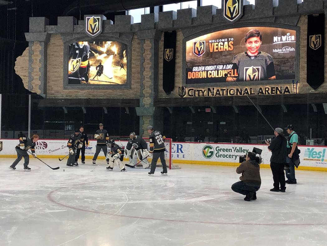 13-year-old Doron Coldwell spends a day with the team and even gets an opportunity to replace h ...
