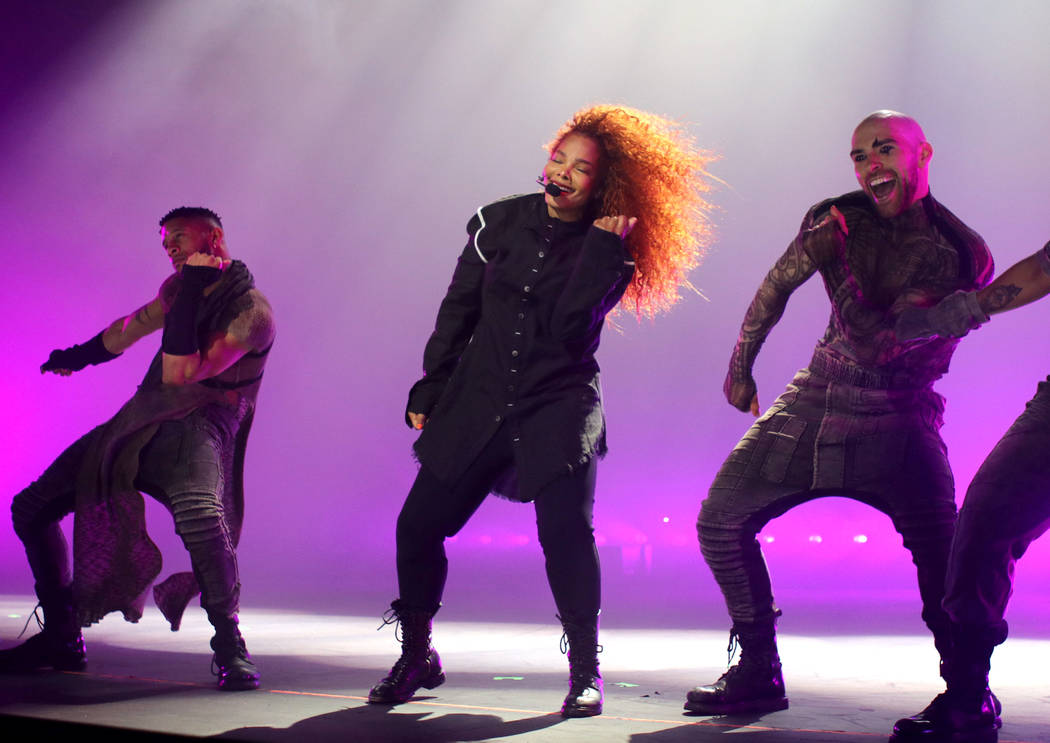 "Janet Jackson performs onstage during the opening night of her ""Metamorphosis"" residency at Par ..."