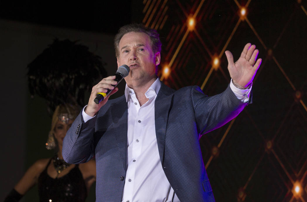 Alex Meruelo, founder of the Meruelo Group and owner of SLS Las Vegas, speaks during an event t ...
