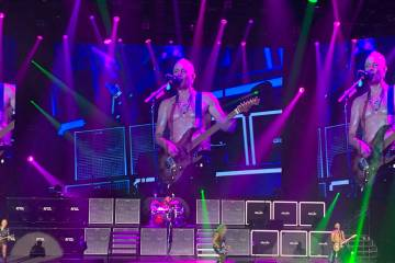 Phil Collen is shown as Def Leppard opens its 12-show residency run at Zappos Theater at Planet ...