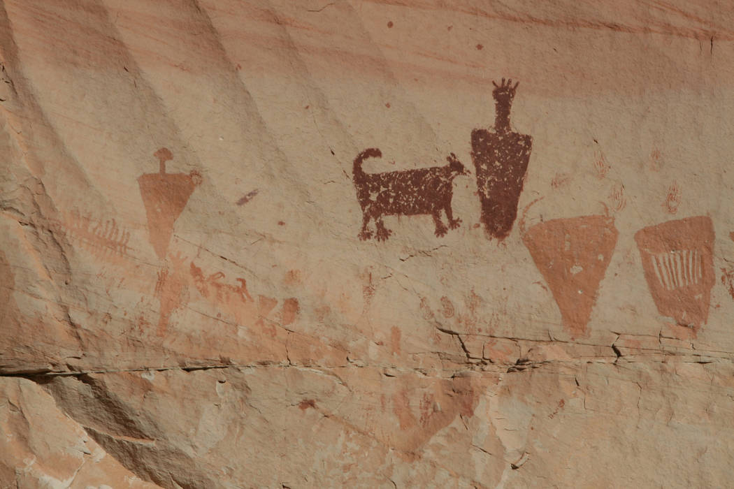 There are four pictograph sites in Horseshoe Canyon in Canyonlands National Park, Utah. (Debora ...