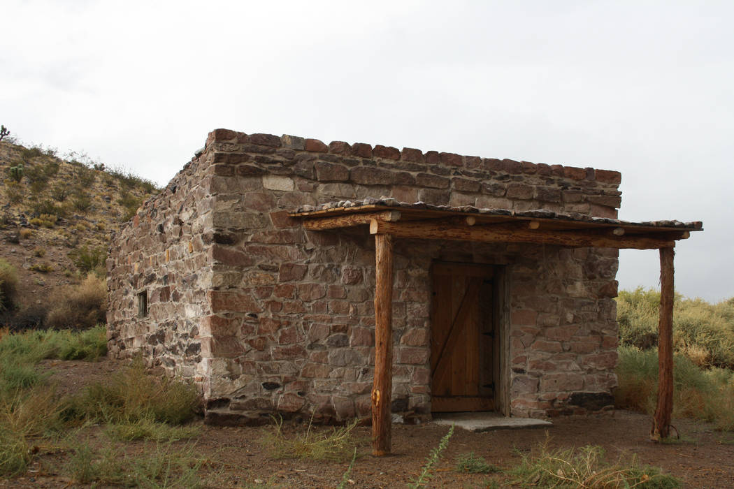 The Walden House, known as the Petroglyph Cabin, was built by pioneers around 1864. (Deborah Wa ...