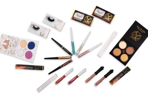 "Fans of ""The Hunger Games"" can now purchase makeup from the young adult franchise's cosme ..."