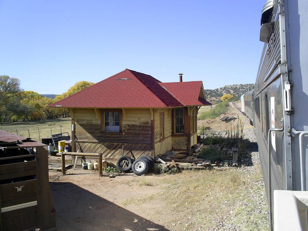 The ghost town of Perkinsville marks the turn-around point of the excursion. (Deborah Wall/Las ...