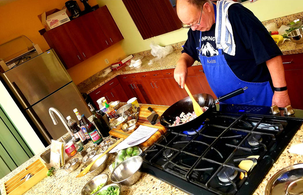 Klaus Bremer, who regularly offers Thai cooking demonstration workshops for Henderson Parks and ...