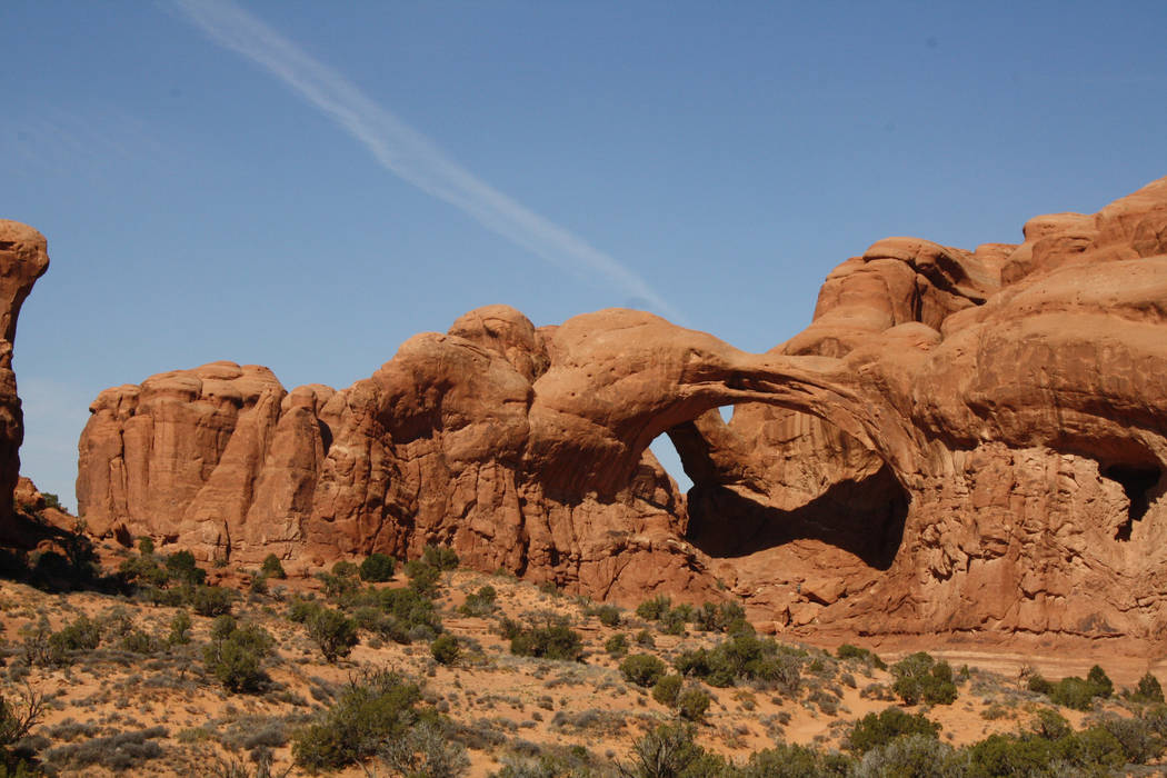 Arches National Park in Utah boasts more than 2,000 natural arches, including Double Arch, whos ...