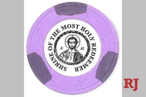 The Shrine of the Most Holy Redeemer near the south end of the Las Vegas Strip sold commemorati ...