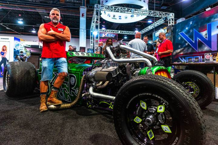 Native Las Vegan Steve Darnell would not miss a SEMA gathering. The owner of Welder Up, he has ...