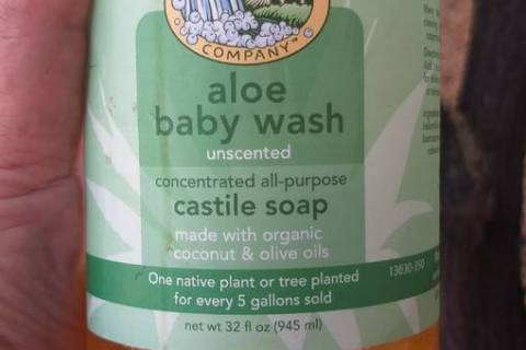 This unscented castile soap sold as a baby shampoo has been certified organic by one of the cer ...