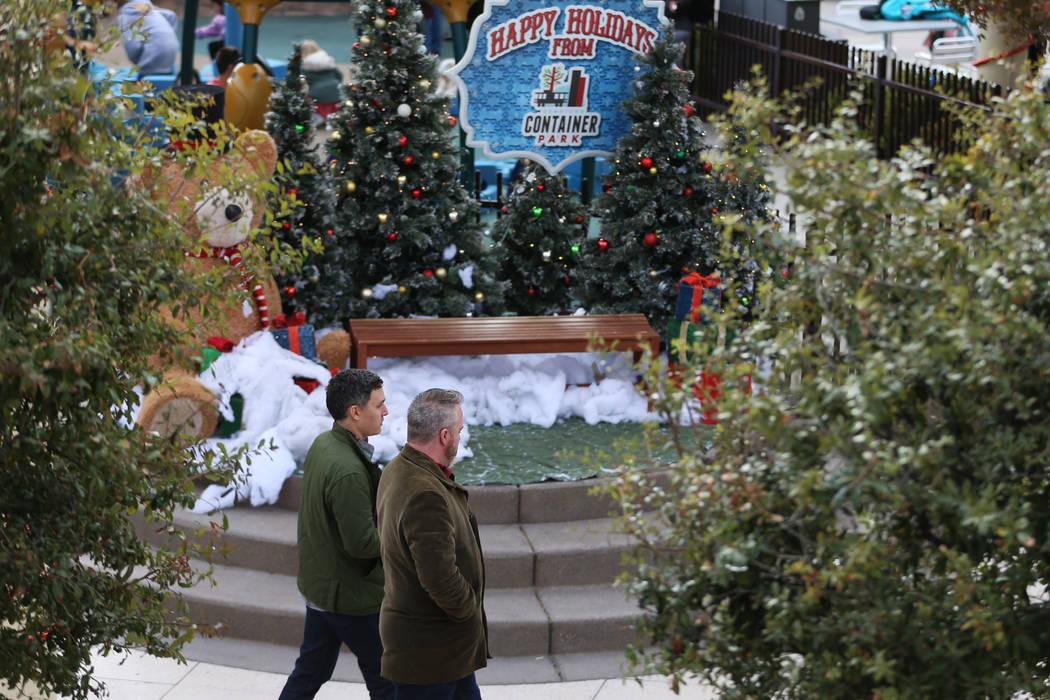 The the Downtown Container Park in Las Vegas, Wednesday, Nov. 27, 2019. (Erik Verduzco / Las Ve ...