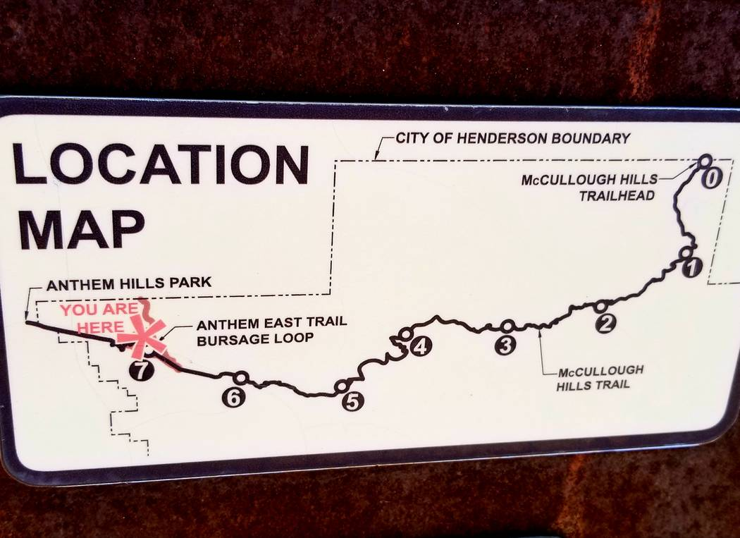 Maps show up each mile along the trail, letting hikers know how close they are to the finish li ...