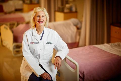 Dr. Nora Doyle, assistant dean of ultrasound education and professor of maternal fetal medicine ...