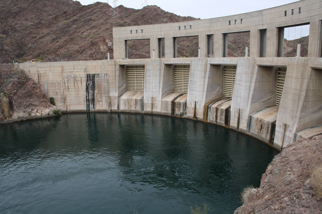 The Parker Dam doesn't appear too impressive above the surface, but it is said to be the ...