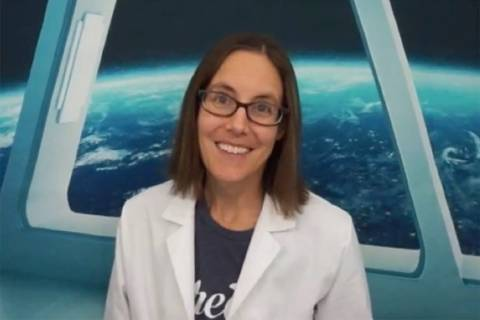 Jenny Ballif, a Boulder City-based YouTuber known as Science Mom, is seen in a screenshot. (Sci ...