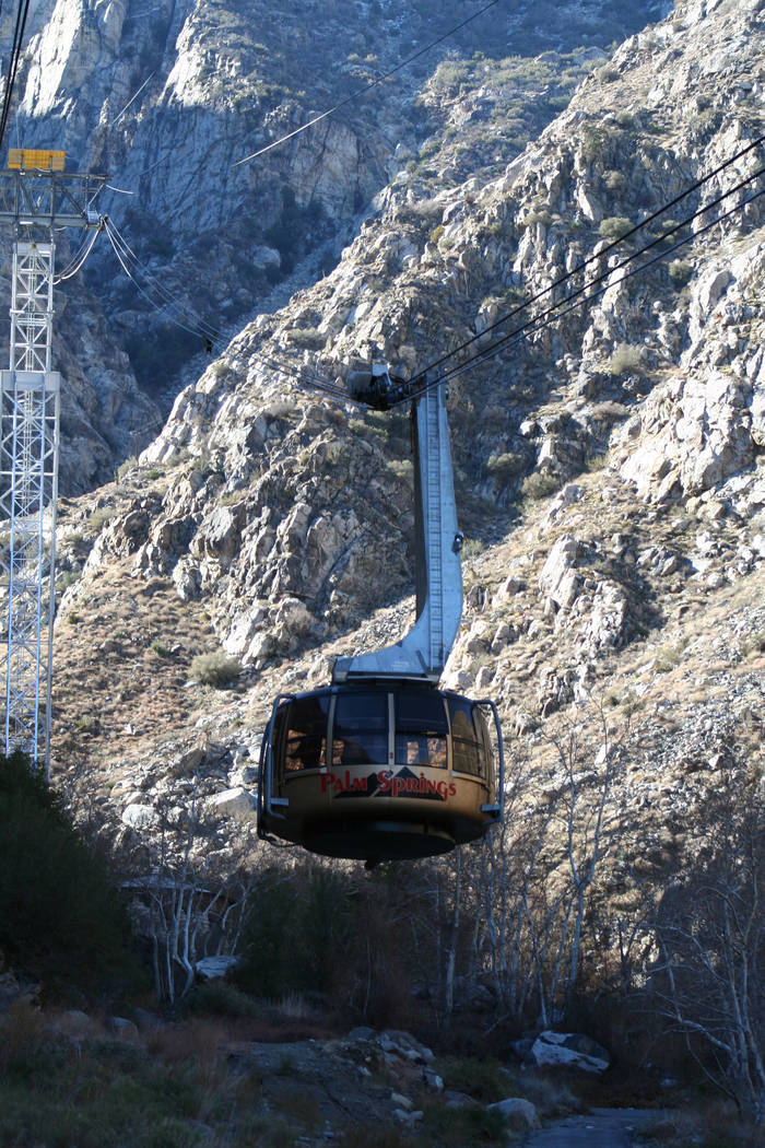 The Palm Springs Arial Tramway is the world's largest rotating tram. (Deborah Wall/Las V ...