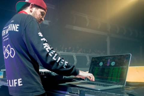 Dillon Francis performs on the Friends Rule Tour at Terminal 5 on Sunday, Jan. 18, 2015, in New ...