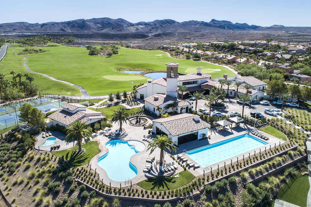 The Lake Las Vegas community in Henderson. (Las Vegas Review-Journal file)
