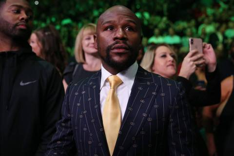 Floyd Mayweather attends the fight between Deontay Wilder and Luis Ortiz for the WBC heavyweigh ...