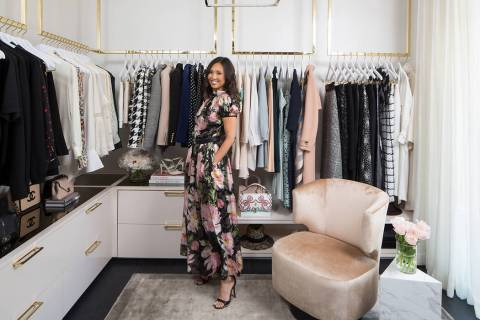 Lisa Adams, CEO and lead designer of LA Closet Design, spent two years creating the master clos ...