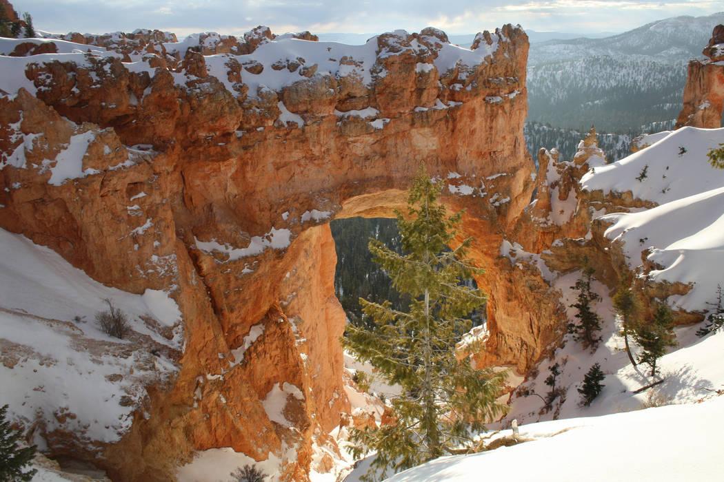 Natural Bridge can be seen along the 18-mile long scenic road. (Deborah Wall/Las Vegas Review-J ...