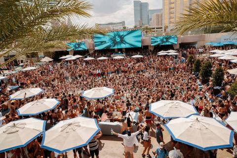 Wet Republic at MGM Grand is shown during the 2019 season. (Wolf Productions)